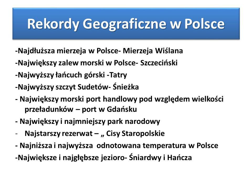 Rekordy Geograficzne w Polsce