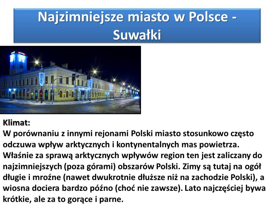 Najzimniejsze miasto w Polsce - Suwałki