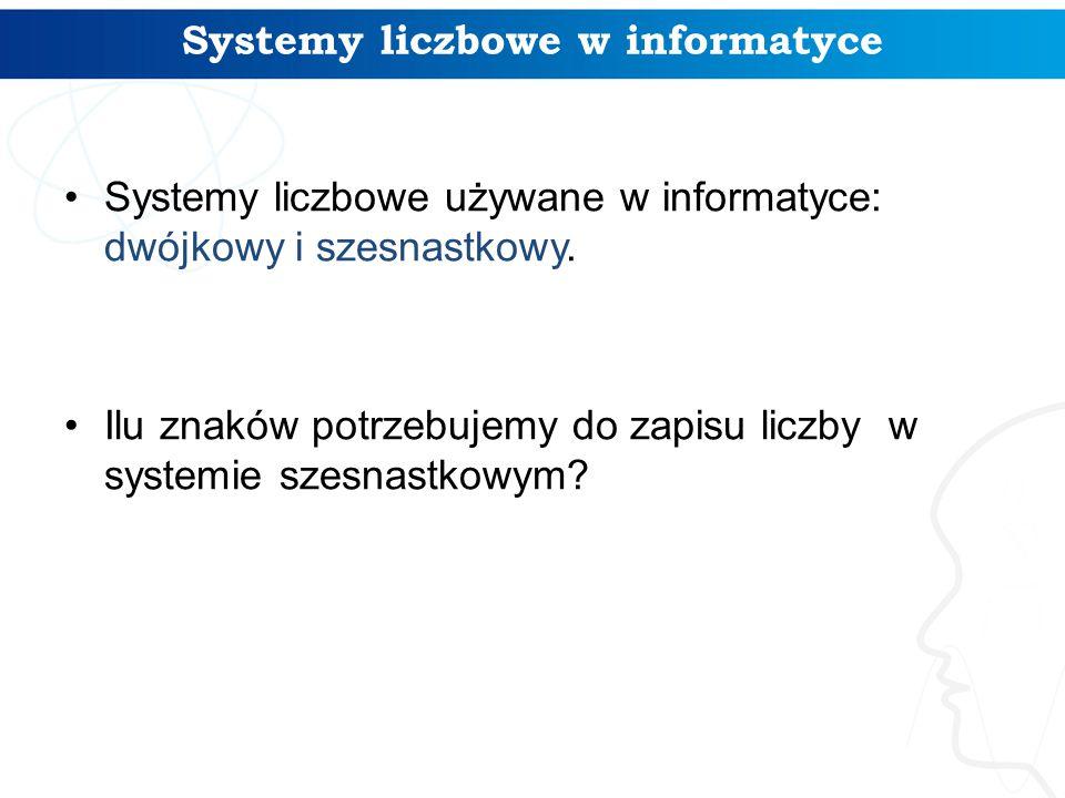 Systemy liczbowe w informatyce