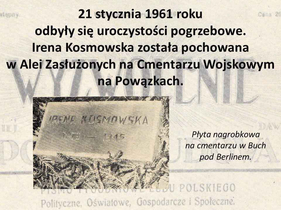Płyta nagrobkowa na cmentarzu w Buch pod Berlinem.