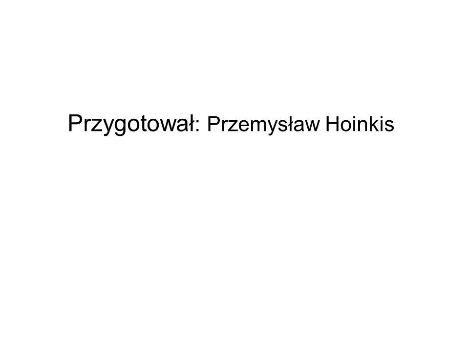 Przygotował: Przemysław Hoinkis