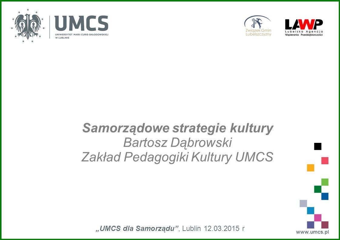 """""""UMCS dla Samorządu , Lublin 12.03.2015 r"""