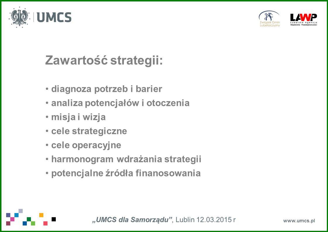 Zawartość strategii: diagnoza potrzeb i barier