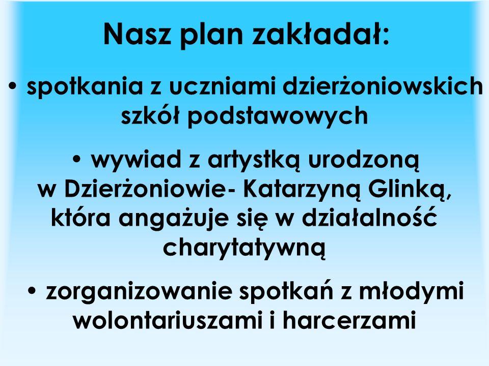 Nasz plan zakładał: spotkania z uczniami dzierżoniowskich szkół podstawowych.