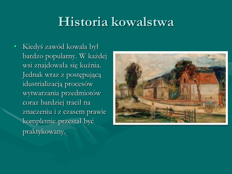 Historia kowalstwa