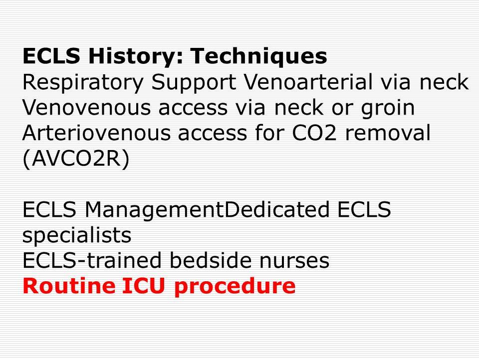 ECLS History: Techniques