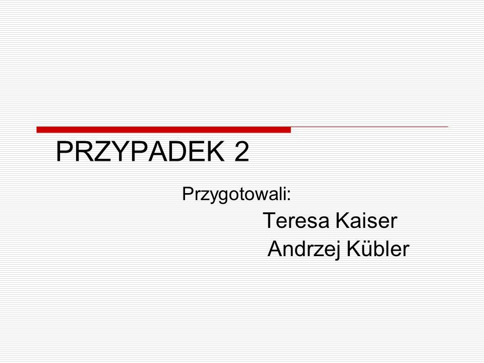 Przygotowali: Teresa Kaiser Andrzej Kübler