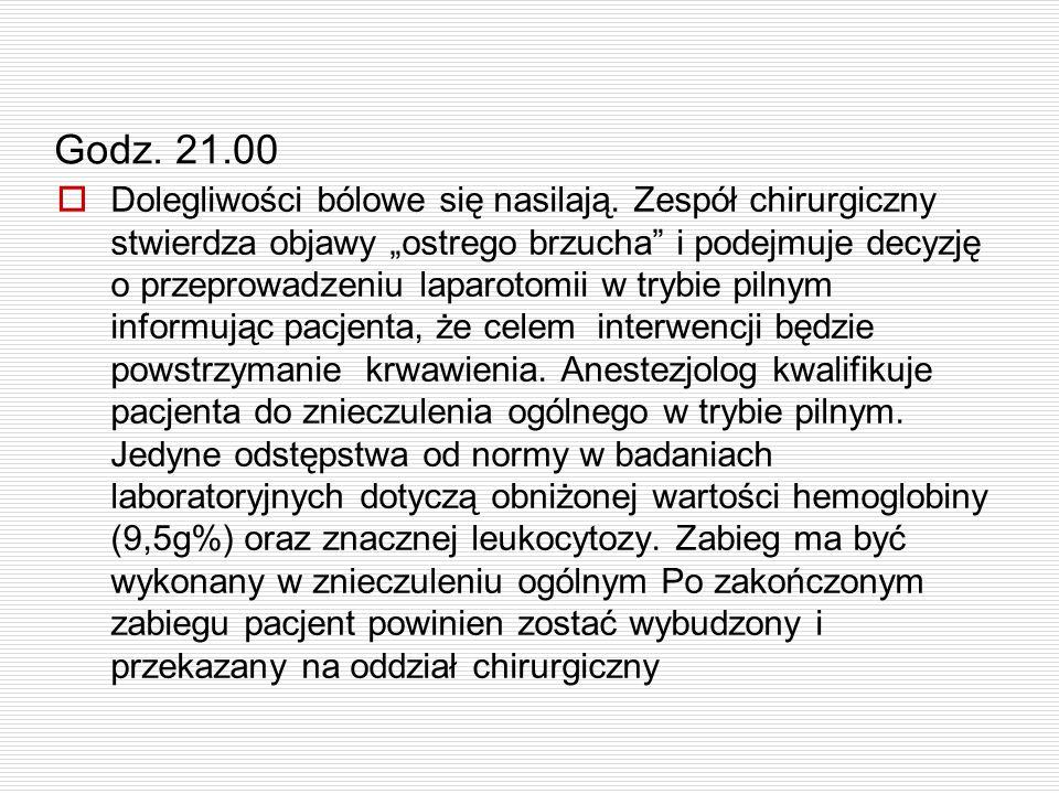 Godz. 21.00