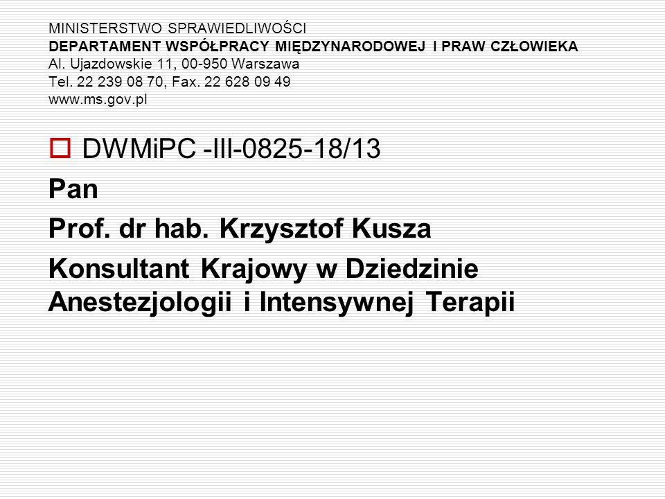 Prof. dr hab. Krzysztof Kusza