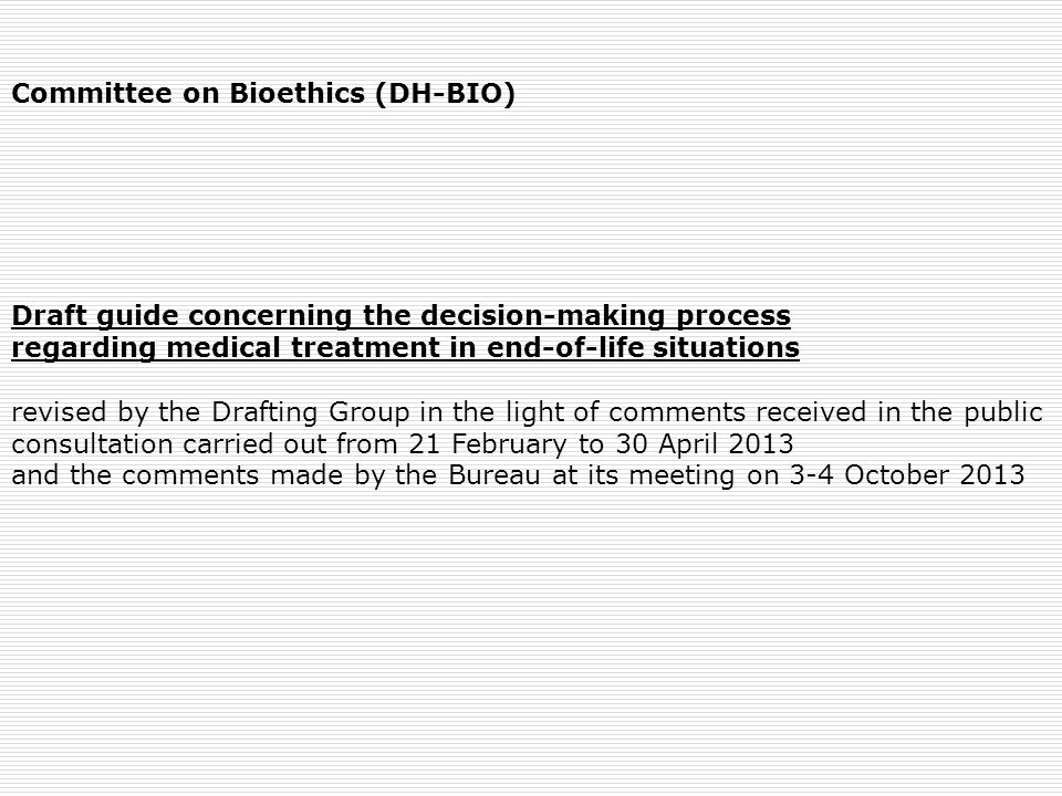 Committee on Bioethics (DH-BIO)