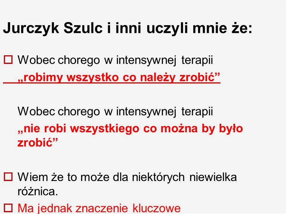 Jurczyk Szulc i inni uczyli mnie że: