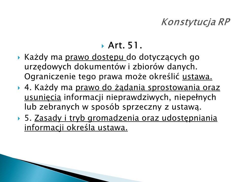 Konstytucja RP Art. 51.