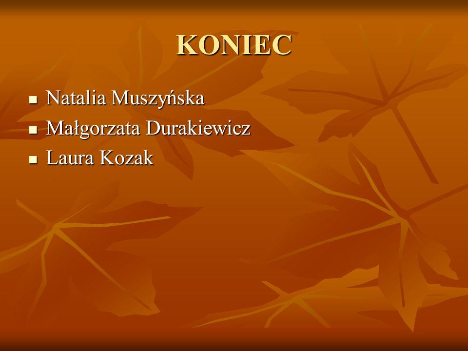 KONIEC Natalia Muszyńska Małgorzata Durakiewicz Laura Kozak