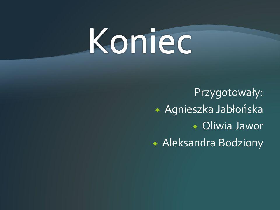 Koniec Przygotowały: Agnieszka Jabłońska Oliwia Jawor