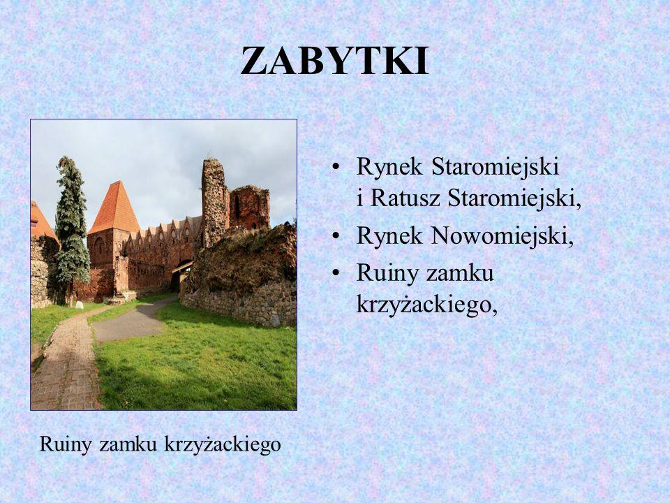 ZABYTKI Rynek Staromiejski i Ratusz Staromiejski, Rynek Nowomiejski,