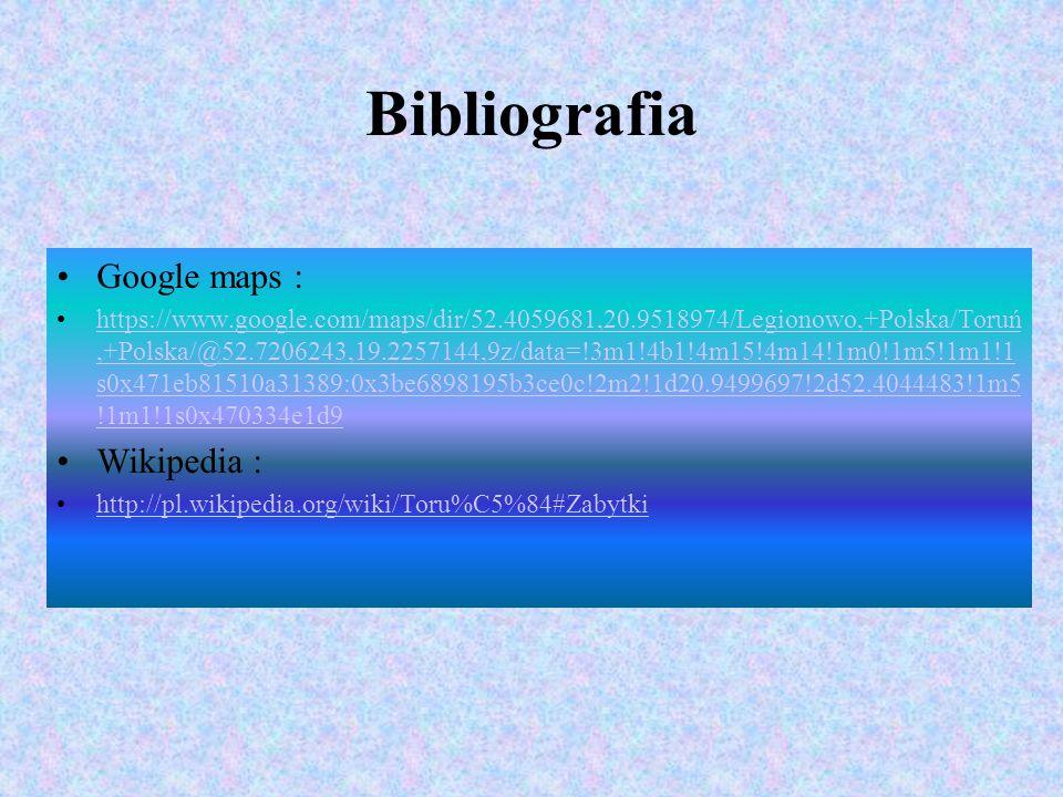 Bibliografia Google maps : Wikipedia :