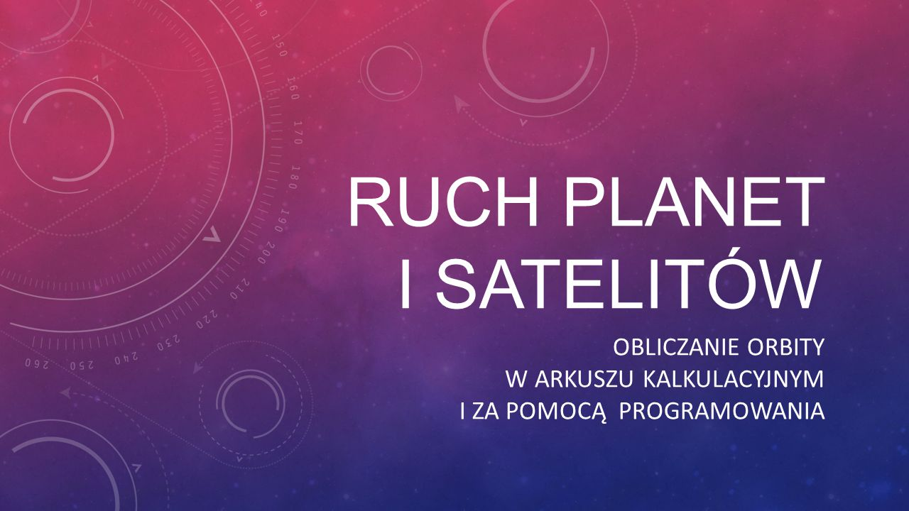 Ruch planet i satelitów