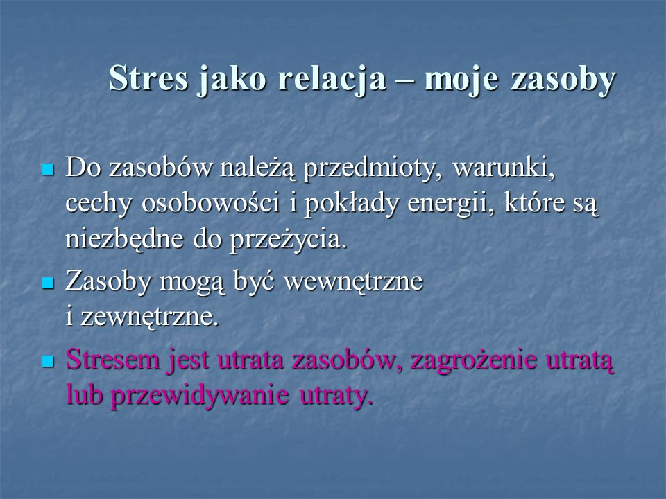 Stres jako relacja – moje zasoby