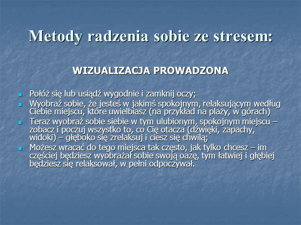 Metody radzenia sobie ze stresem: