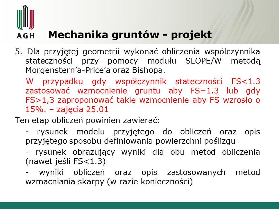 Mechanika gruntów - projekt