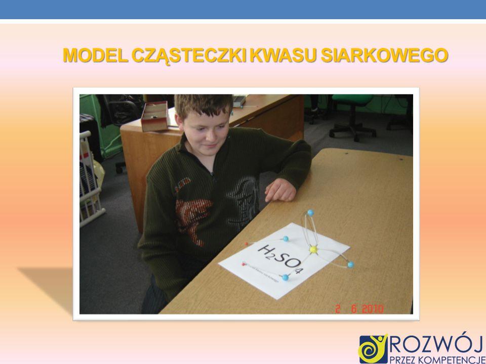Model Cząsteczki Kwasu siarkowego