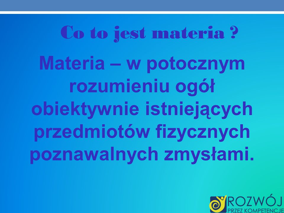 Co to jest materia .