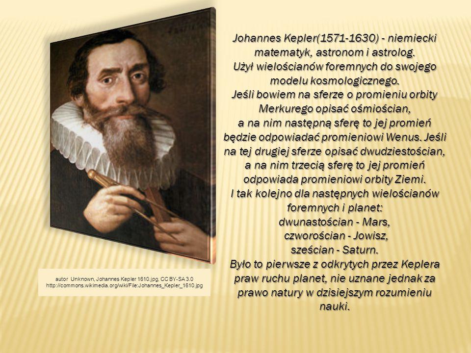 Johannes Kepler(1571-1630) - niemiecki matematyk, astronom i astrolog.