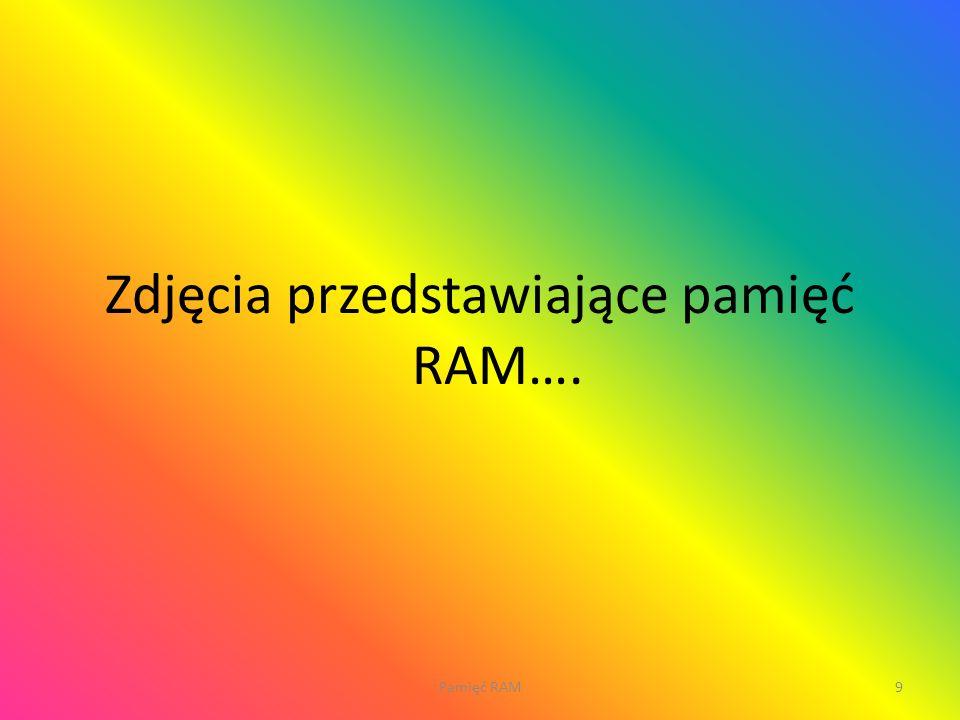 Zdjęcia przedstawiające pamięć RAM….