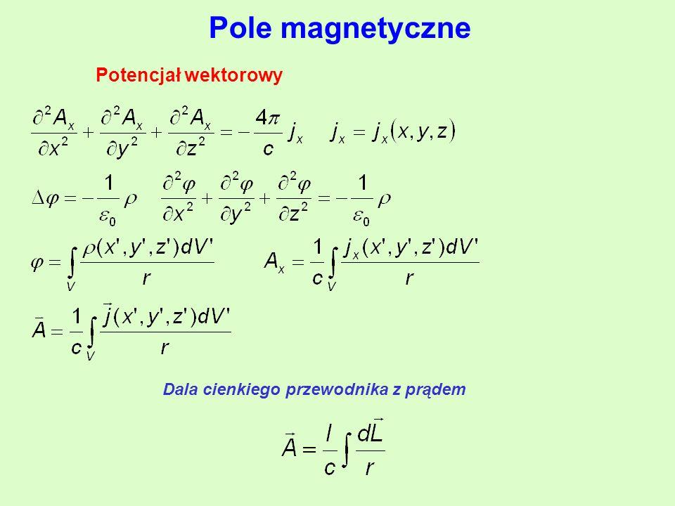 Pole magnetyczne Potencjał wektorowy