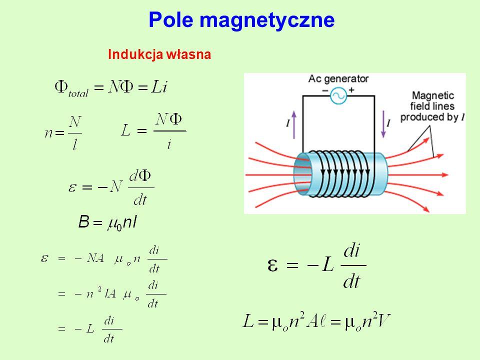 Pole magnetyczne Indukcja własna