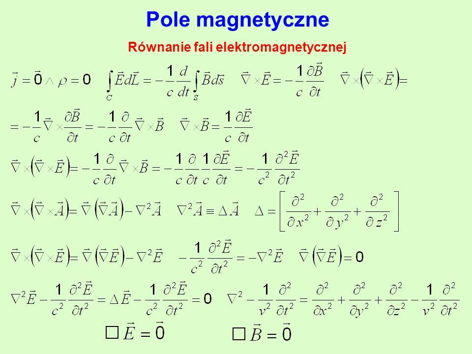 Równanie fali elektromagnetycznej