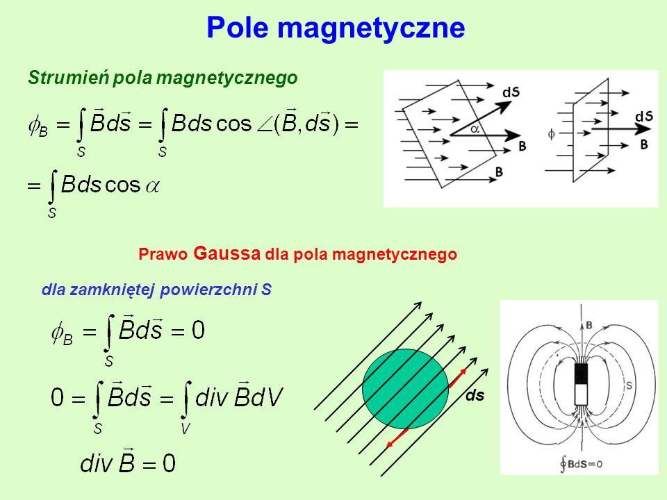 Pole magnetyczne Strumień pola magnetycznego