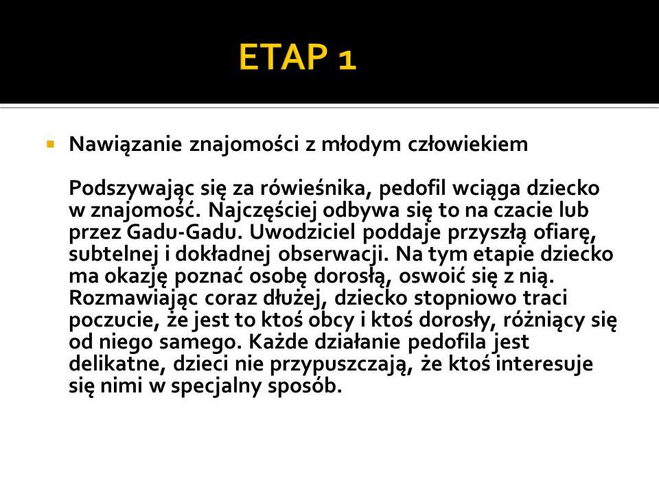ETAP 1 Nawiązanie znajomości z młodym człowiekiem