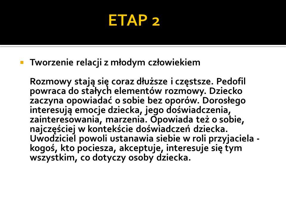 ETAP 2 Tworzenie relacji z młodym człowiekiem