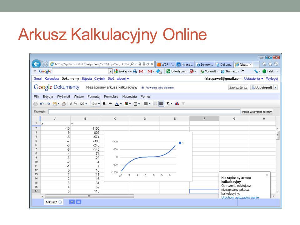 Arkusz Kalkulacyjny Online
