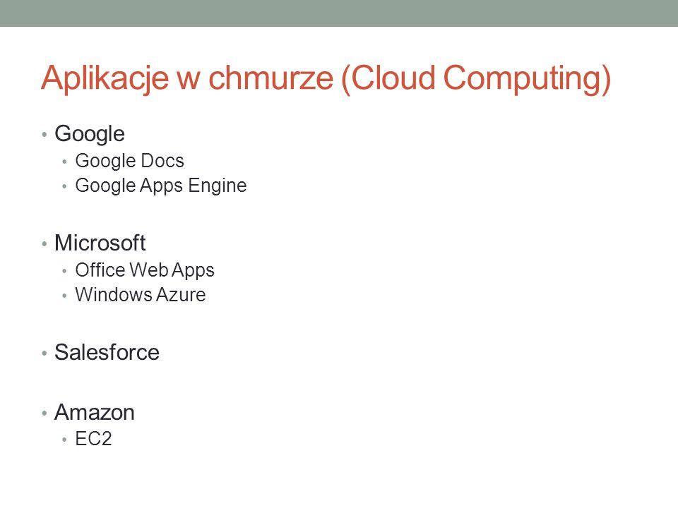 Aplikacje w chmurze (Cloud Computing)