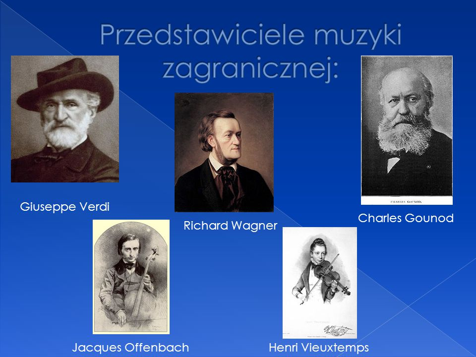 Przedstawiciele muzyki zagranicznej: