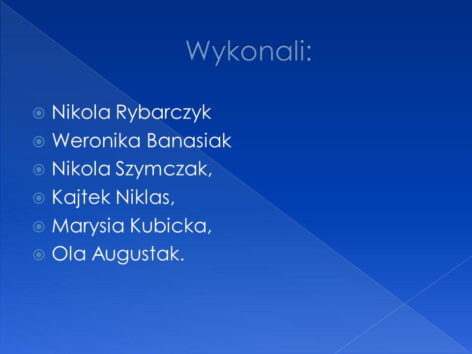Wykonali: Nikola Rybarczyk Weronika Banasiak Nikola Szymczak,
