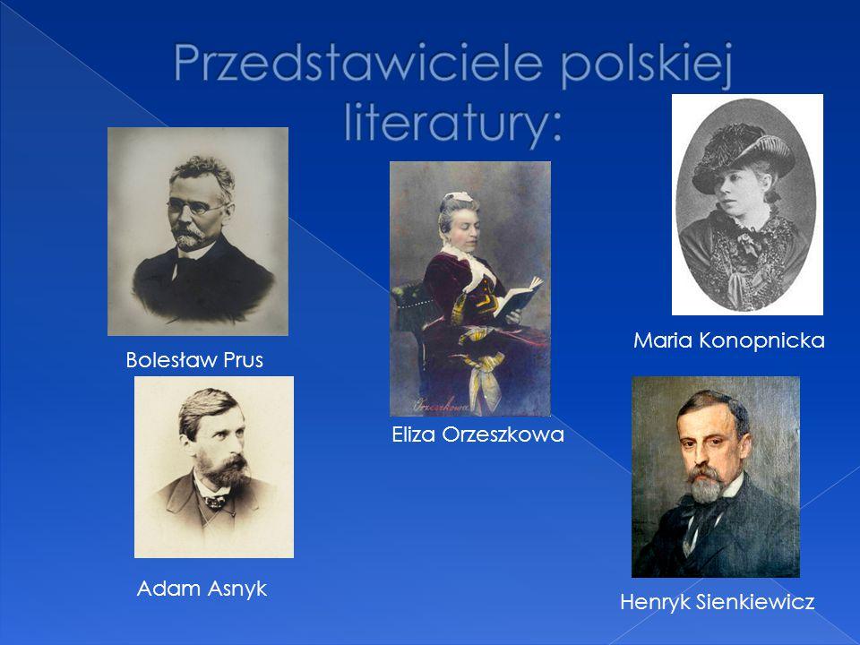 Przedstawiciele polskiej literatury: