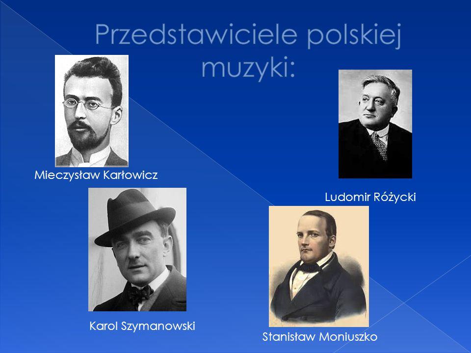 Przedstawiciele polskiej muzyki: