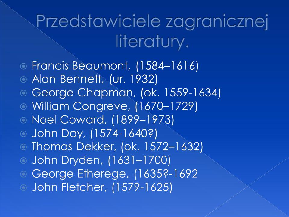 Przedstawiciele zagranicznej literatury.