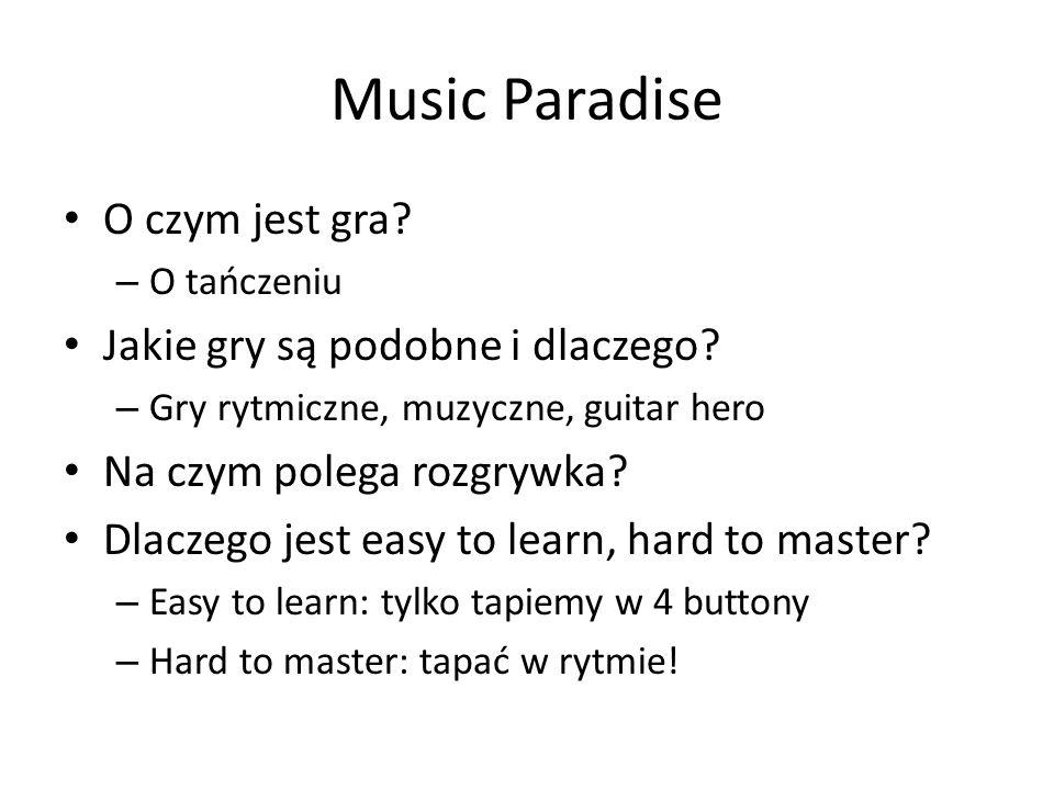 Music Paradise O czym jest gra Jakie gry są podobne i dlaczego