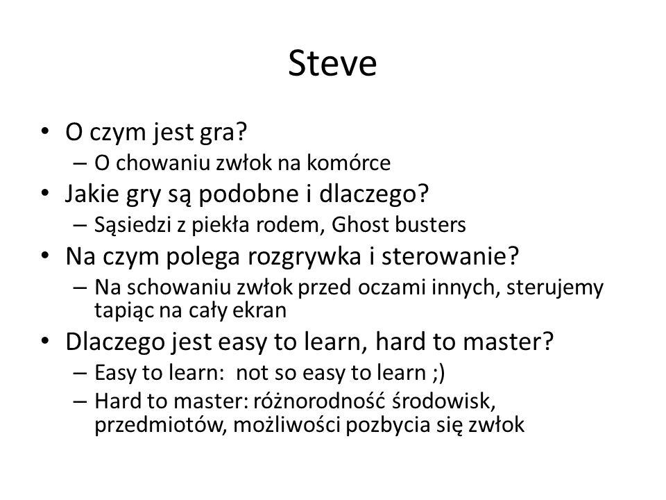 Steve O czym jest gra Jakie gry są podobne i dlaczego