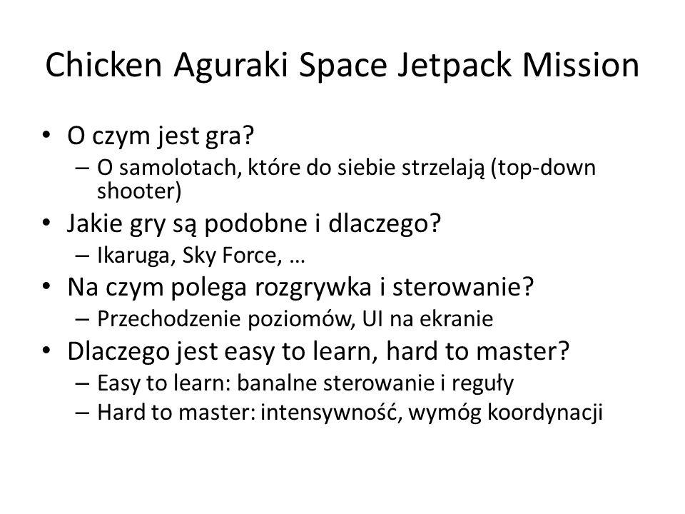 Chicken Aguraki Space Jetpack Mission