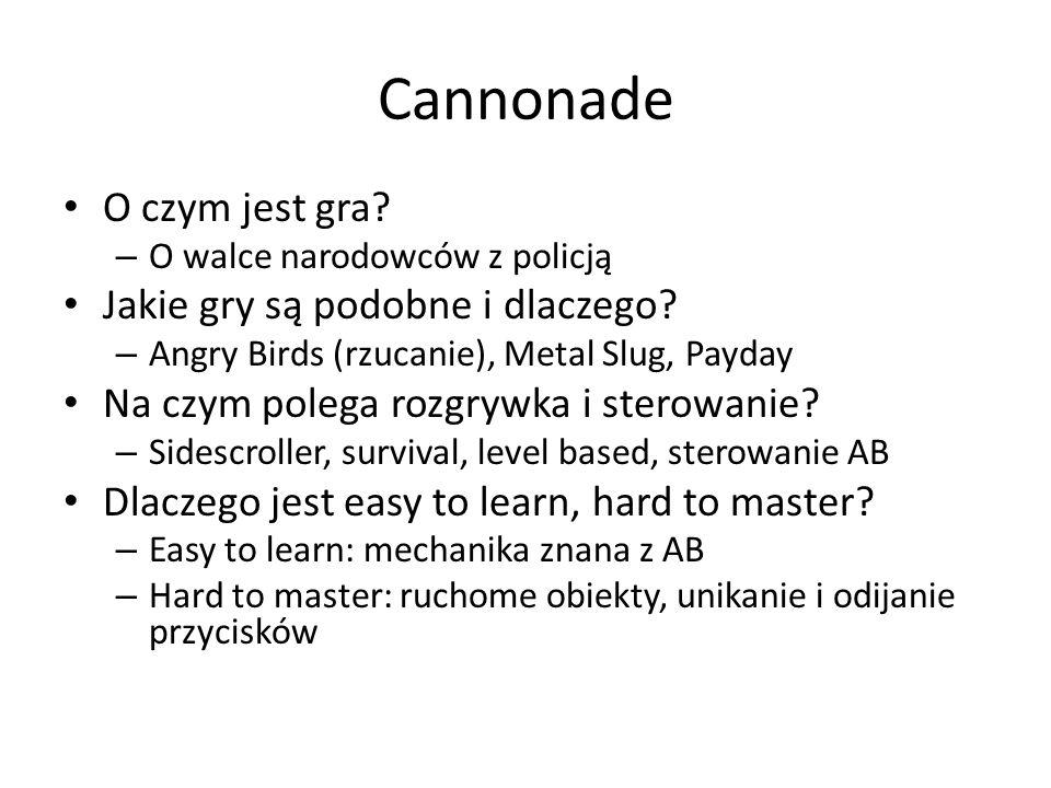 Cannonade O czym jest gra Jakie gry są podobne i dlaczego