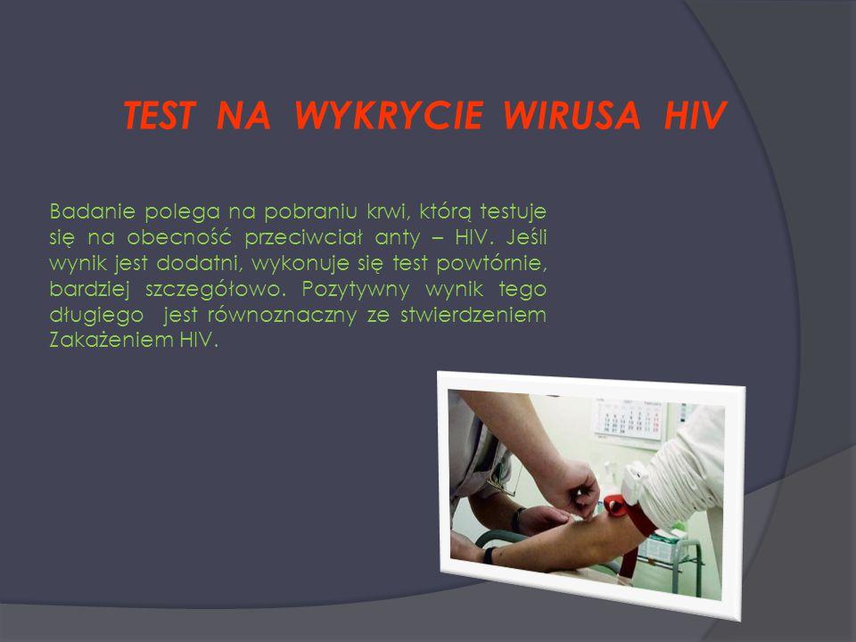 TEST NA WYKRYCIE WIRUSA HIV