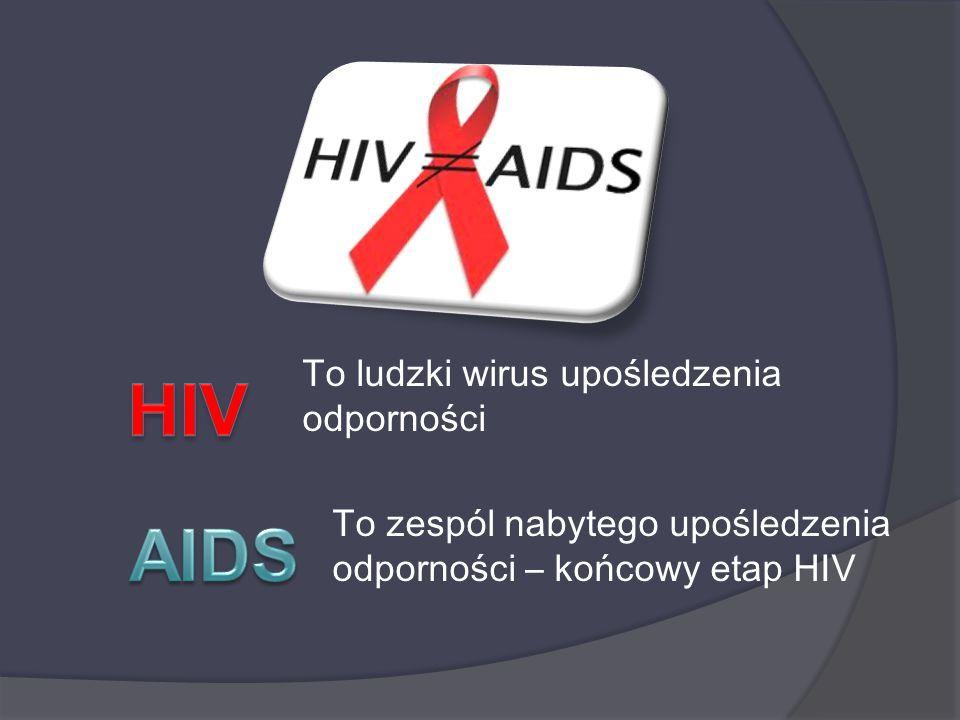 HIV AIDS To ludzki wirus upośledzenia odporności