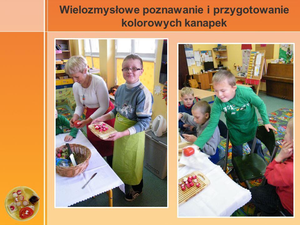 Wielozmysłowe poznawanie i przygotowanie kolorowych kanapek
