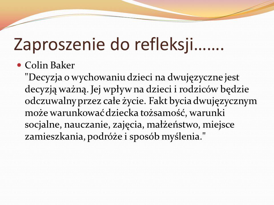 Zaproszenie do refleksji…….