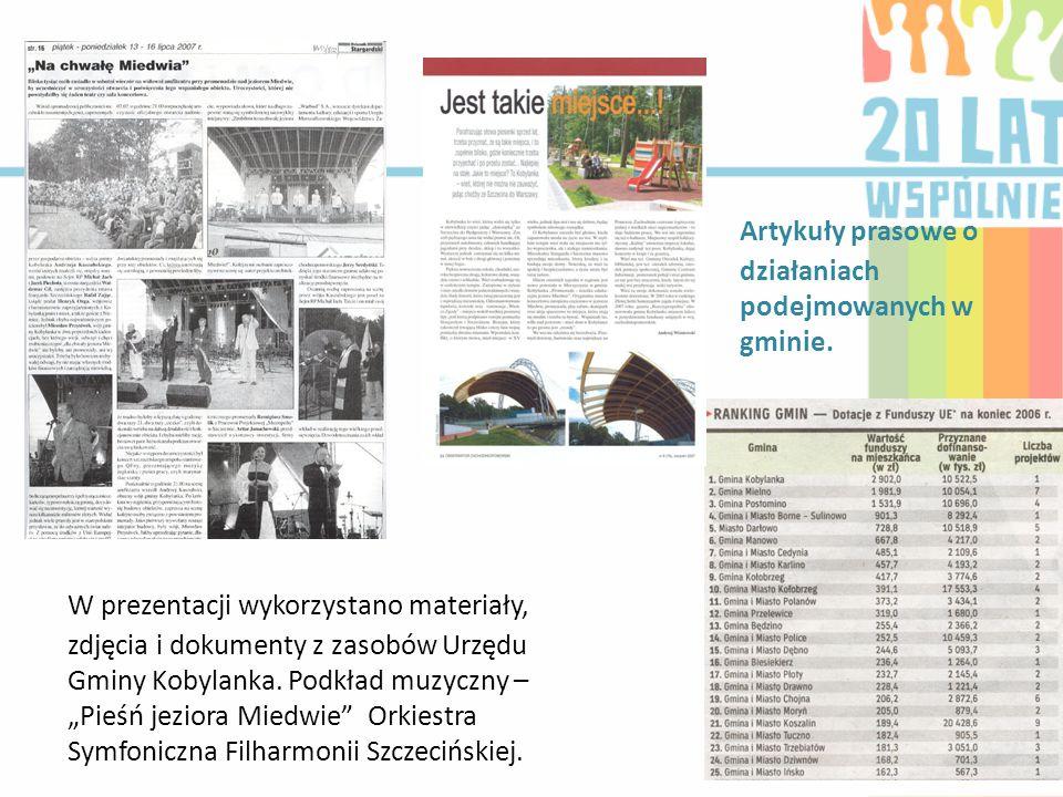 Artykuły prasowe o działaniach podejmowanych w gminie.